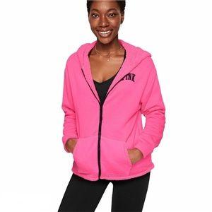 PINK Victoria's Secret Reversible Sherpa Hoodie
